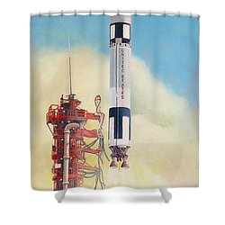 Gemini-titan Launch Shower Curtain