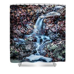 Shower Curtain featuring the photograph Gemstone Falls by Az Jackson