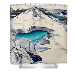Gemstone Lake Shower Curtain