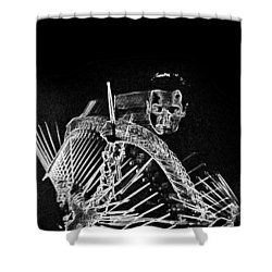 Gene Krupa Shower Curtain by Charles Shoup