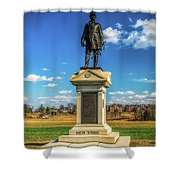 Shower Curtain featuring the photograph General Abner Doubleday - Gettysburg National Park by Nick Zelinsky