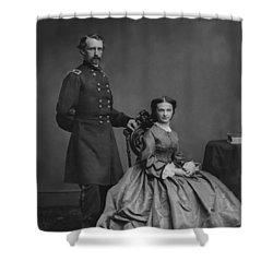 General Custer And His Wife Libbie Shower Curtain by War Is Hell Store