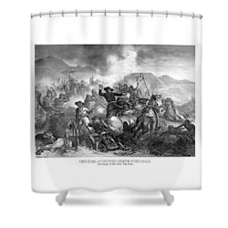 General Custer's Death Struggle  Shower Curtain by War Is Hell Store