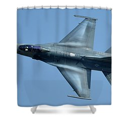 General Dynamics F-16c Block 50d Viper 91-0376 Chino California April 29 2016 Shower Curtain by Brian Lockett