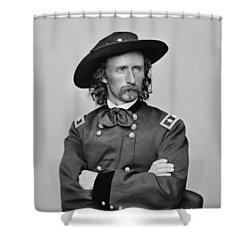 General George Armstrong Custer Shower Curtain by War Is Hell Store