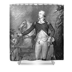 General George Washington At Trenton Shower Curtain by War Is Hell Store
