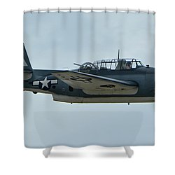 General Motors Tbm-3e Avenger Nx7835c Chino California April 30 2016 Shower Curtain by Brian Lockett