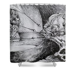 General Peckerwood In Purgatory Shower Curtain by Otto Rapp