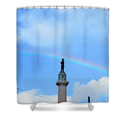 General Robert E. Lee Mounment In Retro Spectrum Shower Curtain