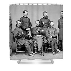 General Sherman And His Staff  Shower Curtain by War Is Hell Store