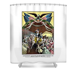 General Washington's Reception At Trenton Shower Curtain by War Is Hell Store