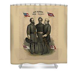 Generals Jackson Beauregard And Lee Shower Curtain