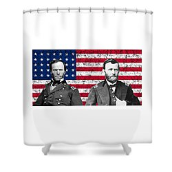 Generals Sherman And Grant  Shower Curtain by War Is Hell Store