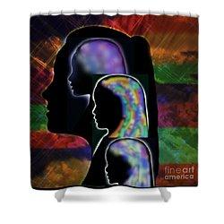 Generations Shower Curtain by Diamante Lavendar