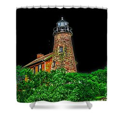 Genesee Lighthouse Shower Curtain by William Norton