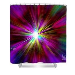 Genesis 1 Verse 3 Shower Curtain