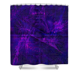 Shower Curtain featuring the digital art Purple And Blue Fractals by Fine Art By Andrew David