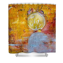 Shower Curtain featuring the painting Genesis by Evelina Popilian
