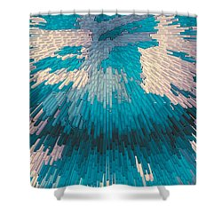 Genetic Modification Flower Shower Curtain