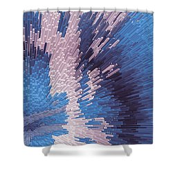 Genetic Engineering Flower Shower Curtain
