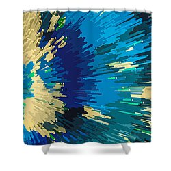 Genetically  Modified Dahlia Shower Curtain