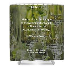 Genius Shower Curtain by Warren Brown
