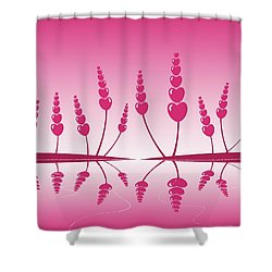 Gentle Hearts Shower Curtain by Anastasiya Malakhova