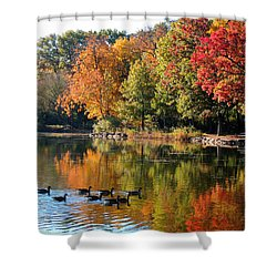 Shower Curtain featuring the photograph Gentle Reflections by Teresa Schomig