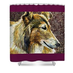 Gentle Spirit - Reveille Viii Shower Curtain