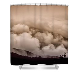 Gentle Tsunami Shower Curtain by Wallaroo Images