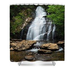 Gentle Waterfall North Georgia Mountains Shower Curtain