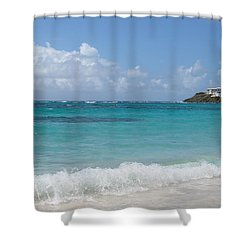 Shower Curtain featuring the photograph Gentle Wave On Dawn Beach by Margaret Bobb