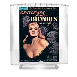 Shower Curtain featuring the painting Gentlemen Prefer Blondes by Earle Bergey