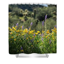Shower Curtain featuring the photograph Gently Swaying In The Wind  by Saija Lehtonen