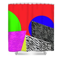 Geo Shapes 2 Shower Curtain by Bruce Iorio