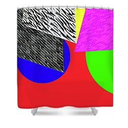 Geo Shapes 2a Shower Curtain by Bruce Iorio