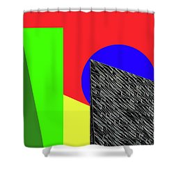 Geo Shapes 3 Shower Curtain by Bruce Iorio