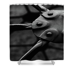 Geodome Climber Shower Curtain by Richard Rizzo