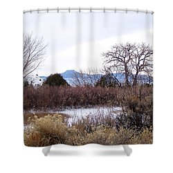 Geogia O'keefe's Pedernal Mountain Shower Curtain