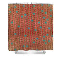Shower Curtain featuring the digital art Geometric 1 by Bonnie Bruno