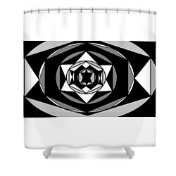 'geometric 1' Shower Curtain