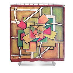Geometric 18x18 Shower Curtain