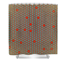 Shower Curtain featuring the digital art Geometric 2 by Bonnie Bruno