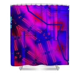 Geometric 2 Shower Curtain