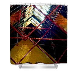 Geometric And Suns  Shower Curtain