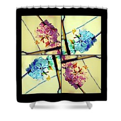 Geometric Blossoms Shower Curtain