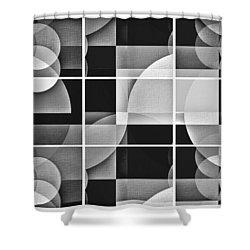 Geometric Chiaroscuro Shower Curtain by Aurelio Zucco