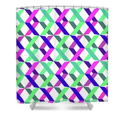 Geometric Crosses Shower Curtain