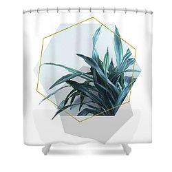 Geometric Jungle Shower Curtain