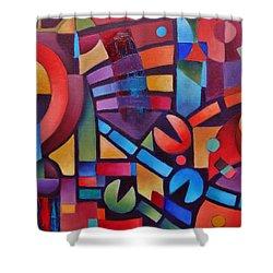 Geometric Music Shower Curtain